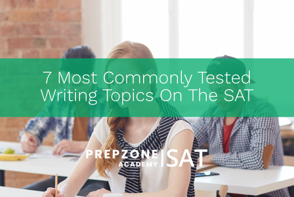 7 Most Commonly Tested Writing Topics On The SAT