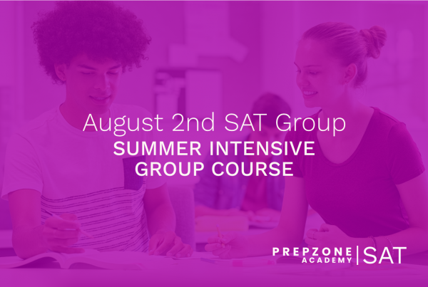 SAT Summer Intensive Group Course Schedule - August 2nd, 2021