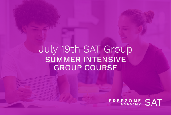 SAT Summer Intensive Group Course Schedule - July 19th, 2021