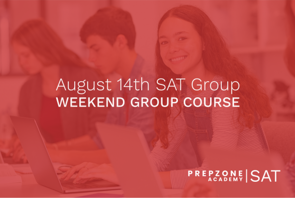 SAT Weekend Group Course Schedule - August 14th, 2021