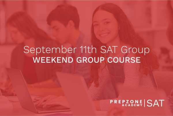 SAT Weekend Group Course Schedule - September 11th, 2021