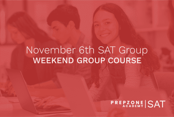 SAT Weekend Group Course Schedule - November 6th, 2021