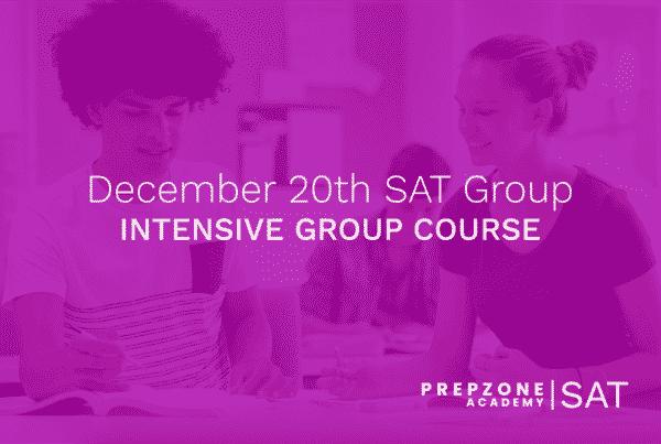 SAT December Intensive Group #2 Course Schedule - December 20th, 2021